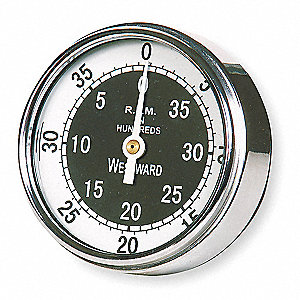 Analog Dial Tachometer,50 to 4000 rpm