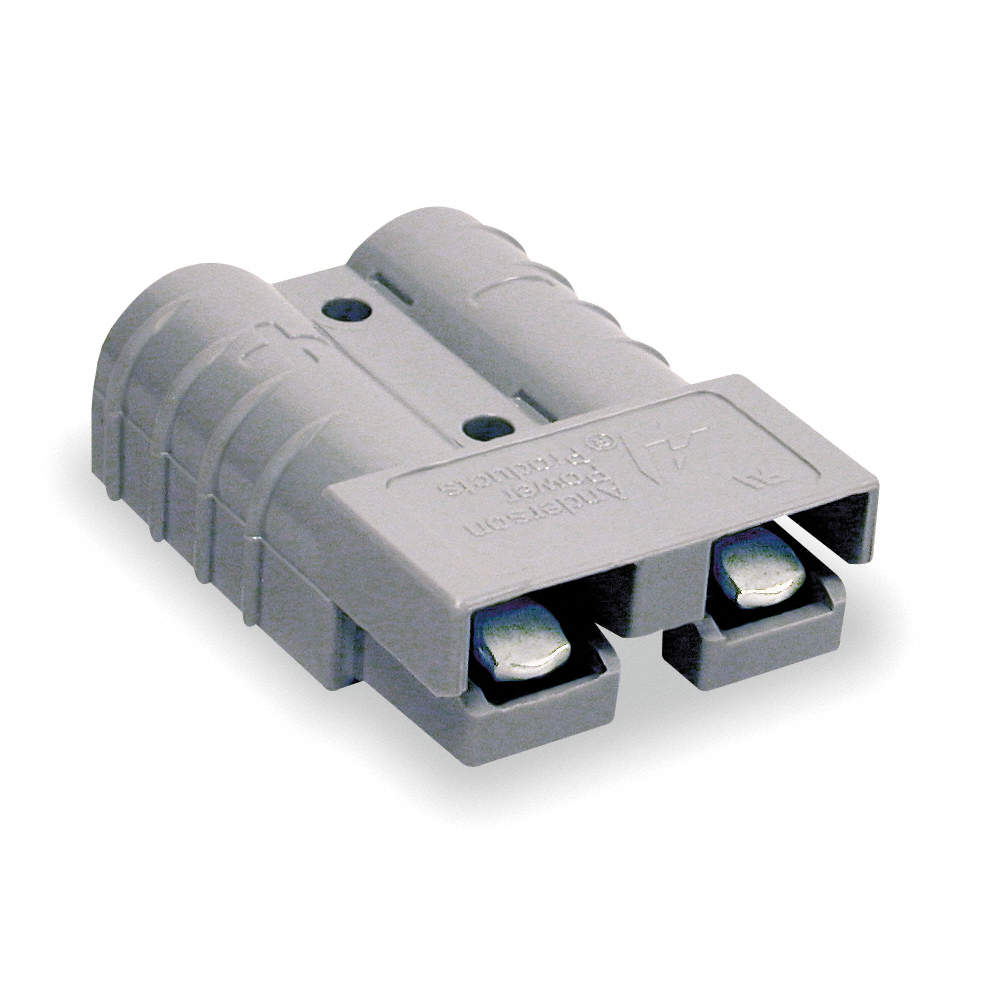 ANDERSON POWER PRODUCTS Power Connector, Gray, 6 Wire Size (AWG ...