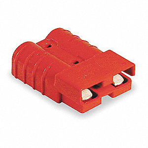 "Power Connector, Red, 6 Wire Size (AWG), 0.221"" Max. Wire Dia."