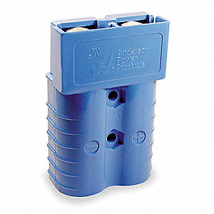 "Power Connector, Blue, 1/0 Wire Size (AWG), 0.437"" Max. Wire Dia."