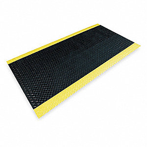 "Switchboard Runner, Diamond Plate Surface Pattern, 12 ft. L, 3 ft. W, 1/4"" Thick"