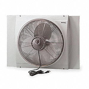 "Reversible 3-Speed Direct Drive Whole House Fan, 20"" Blade Dia."