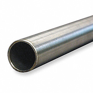 "1"" x 10 ft. 304 Stainless Steel Pipe, Pipe Schedule 5S, Non-Threaded"