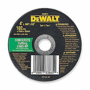 "CutOff Wheel,C60T,4-1/2""x.045""x7/8"""