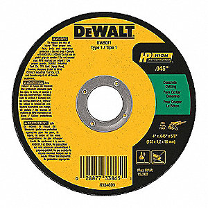 "4"" Cut-Off Wheel, 0.045"" Thickness, 5/8"" Arbor Hole"