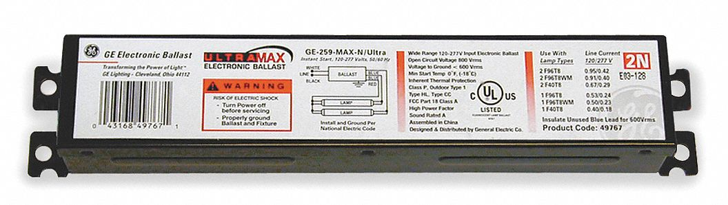 UltraMax(R) P, Electronic, Fluorescent Ballast, Ballast Start Type Instant
