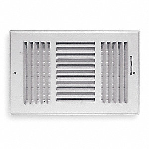 Sidewall/Ceiling Register,3 Way,12x6""