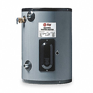 Commercial Point-of-Use Electric Water Heater, 6 gal. Tank Capacity, 120VAC, 2000 Total Watts