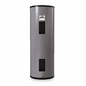 Commercial Electric Water Heater, 40 gal. Tank Capacity, 208VAC, 6000 Total Watts