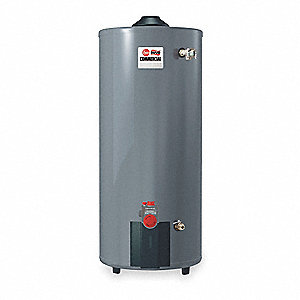 Commercial Gas Water Heater, 75 gal. Tank Capacity, LP, 65,000 BtuH