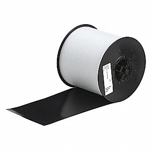 "Indoor/Outdoor Vinyl Film Label Tape Cartridge, Black, 4""W x 100 ft."