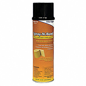 12 oz. For Insulation Installation on Duct Work Adhesive, Aerosol Spray