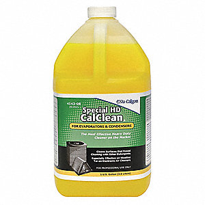 Liquid Condenser or Evaporator Cleaner, 1 gal., Gold Color, 1 EA