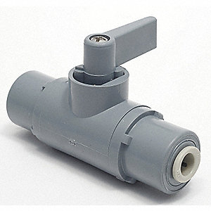 "PVC Push Ball Valve, Flag, 3/8"" Pipe Size"