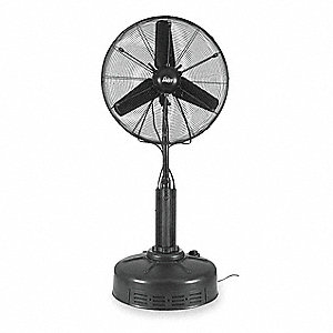 "30"" Commercial Pedestal-Mounted Oscillating Misting Air Circulator"