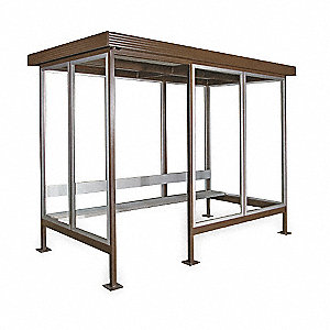Smoking Shelter,H 93 1/2,W 120,w/Bench