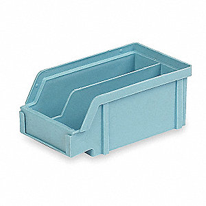 Hang and Stack Bin,7 In L,Light Blue