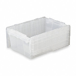 "Attached Lid Container, 1.4 cu. ft. Volume Capacity, 21-3/4"" Outside Length, 15-1/4"" Outside Width"
