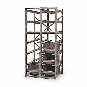 "27"" x 19-3/8"" x 57"" Rack System with 900 lb. Load Capacity, Gray"