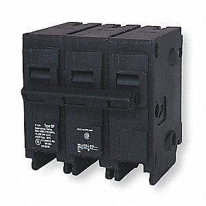 Plug In Circuit Breaker, Q, Number of Poles 3, 40 Amps, 240VAC, Standard