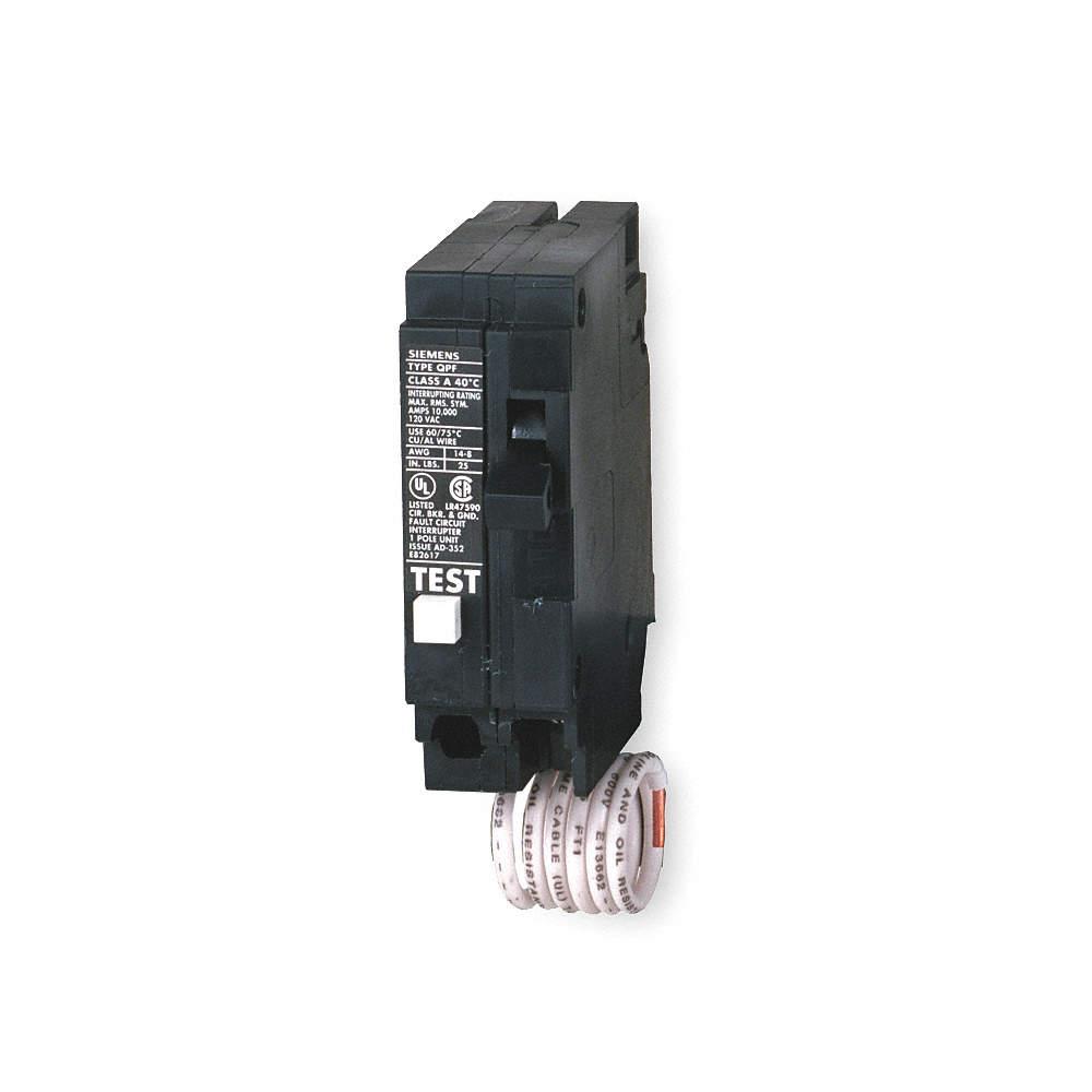 SIEMENS Plug In Circuit Breaker, QF, Number of Poles 1, 20 Amps ...
