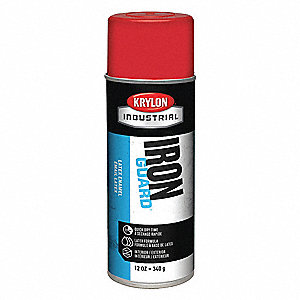 Iron Guard Spray Paint in High Gloss OSHA Red for Masonry, Metal, Plaster, Plastic, Wood, 12 oz.
