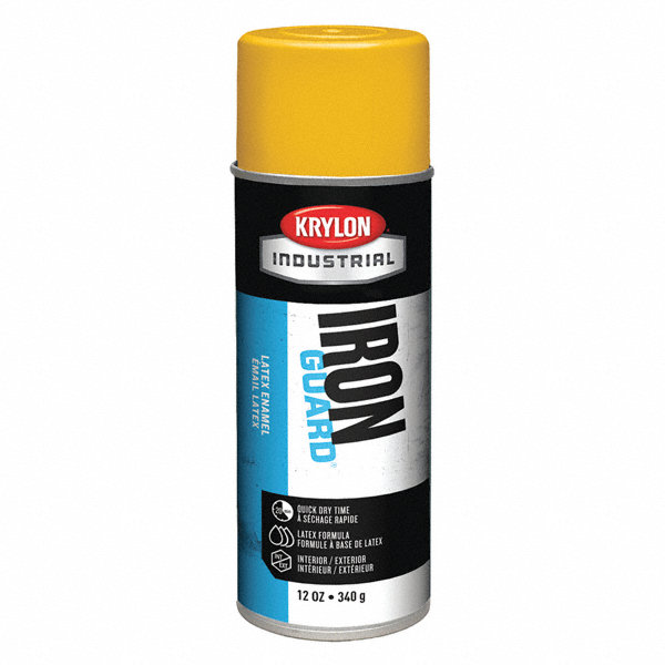 Krylon Iron Guard Spray Paint In High Gloss Osha Yellow For Masonry Metal Plaster Plastic