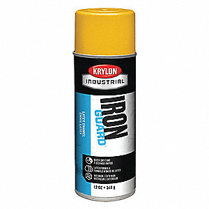 Iron Guard Spray Paint in High Gloss OSHA Yellow for Masonry, Metal, Plaster, Plastic, Wood, 12 oz.