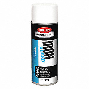 Spray Paint,Satin White,12 oz.