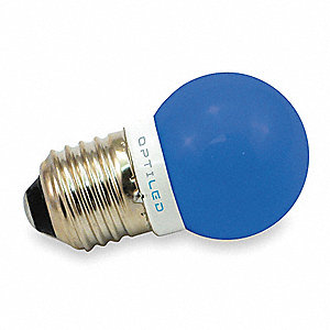LED Light Bulb,A12,455-470nm,Blue,PK10