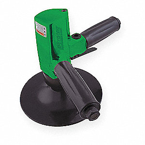 "Light Duty Air Disc Sander with Lever Throttle, 7"" Pad Size"