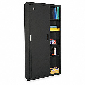 Exceptionnel Storage Cabinet, Black, 72 In. H, 36 In. W