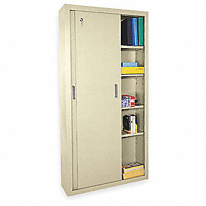Storage Cabinet,Putty,72 In. H,36 In. W