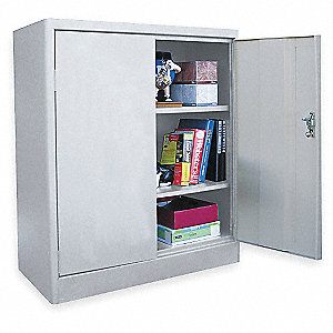"Radius Edge Storage Cabinet, Dove Gray, 42"" Overall Height"