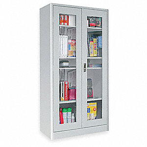 Radius Edge Storage Cabinet,Clearview