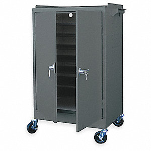 Mobile Laptop Cabinet,36 X 24 X 52 In