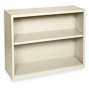 "36"" x 18"" x 30"" Elite Series Stationary Bookcase with 2 Shelves, Putty"