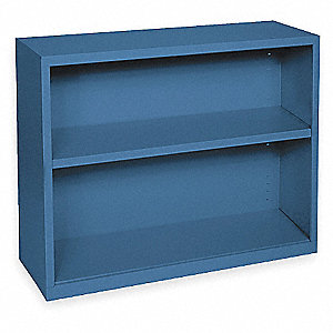 "36"" x 18"" x 30"" Elite Series Stationary Bookcase with 2 Shelves, Blue"
