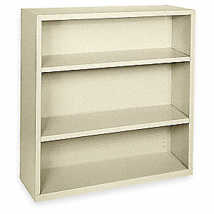 Bookcase,Steel,3 Shelf,Putty,42Hx36W