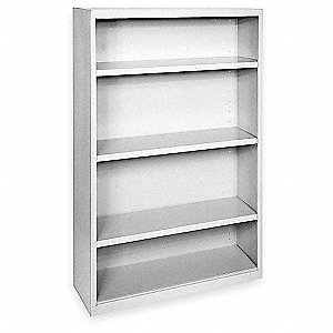 "36"" x 18"" x 52"" Elite Series Stationary Bookcase with 4 Shelves, Dove Gray"