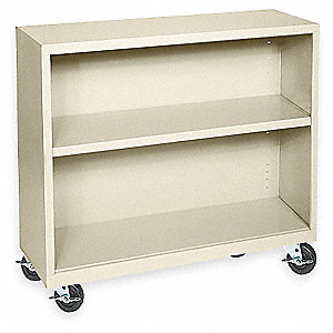 "36"" x 18"" x 36"" Elite Series Mobile Bookcase with 2 Shelves, Putty"