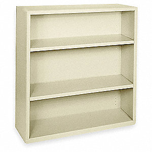 "36"" x 18"" x 42"" Elite Series Stationary Bookcase with 3 Shelves, Putty"
