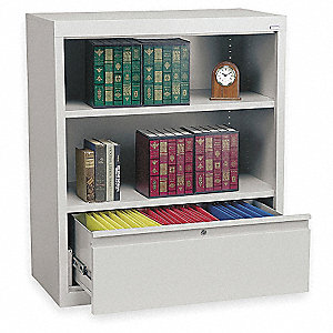 "36"" x 18"" x 42"" System Series Combination Cabinet, Dove Gray"
