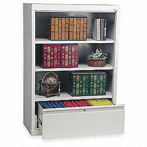 "36"" x 18"" x 52"" Combination Cabinet, Light Gray"
