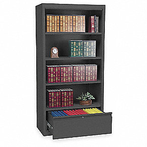 "36"" x 18"" x 72"" System Series Combination Cabinet, Black"