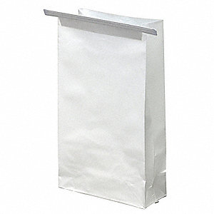 0.5 gal. White Sickness Bags, Contractor Strength Rating, Flat Pack, 1000 PK
