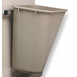 Waste Container, 20 qt.,Taupe