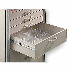 "Clear Drawer Divider Kit, 5-1/2"" Height"