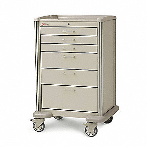 Medical Cart,Steel/Polymer,Light Taupe