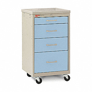 Compact Cart,Steel/Polymer,Taupe/Blue